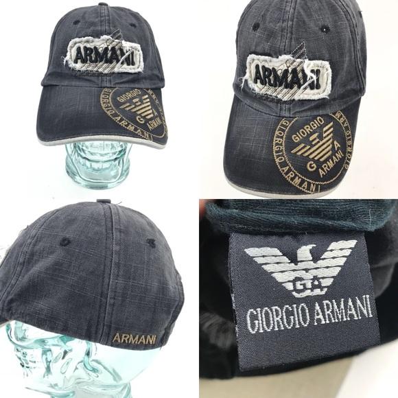 Giorgio Armani Other - Rare Giorgio Armani strap back hat cap b50f5d47315f